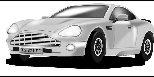 sportovní auto ilustrace