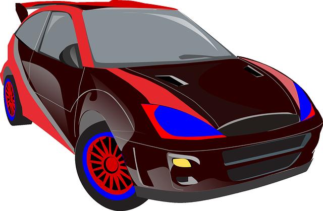 sportovní automobil ilustrace
