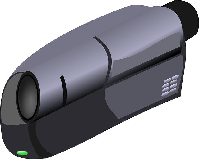 nahrávací kamera ilustrace