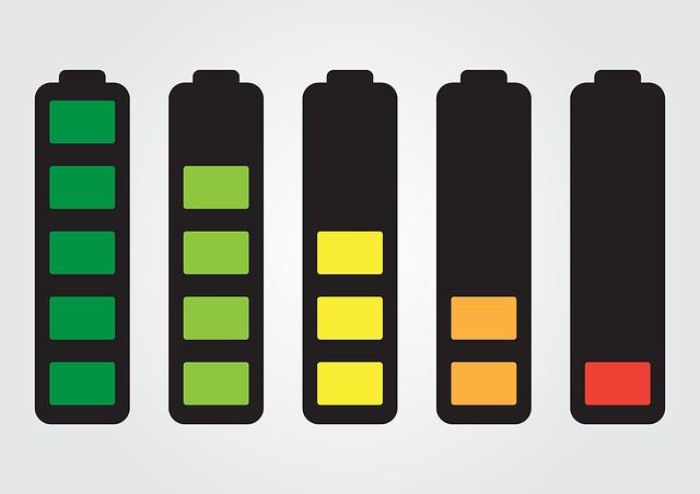úbytek baterie