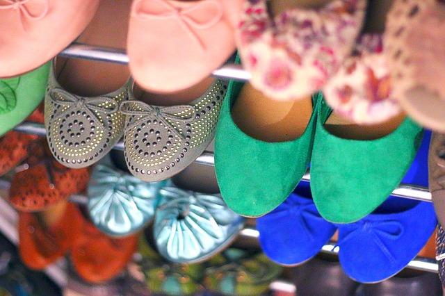 baleriny v obchodě