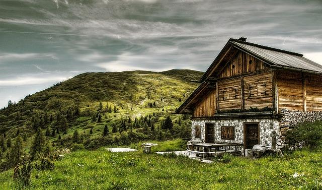 chata v Itálii