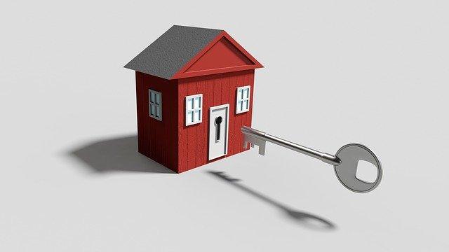 Kľúč, dom, miniatúra